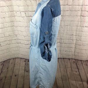 cloth & stone Dresses - Cloth & Stone Chambray Shirt Dress